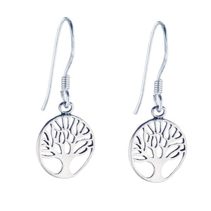 Sterling Silver Small Tree Of Life Earrings - 81stgeneration