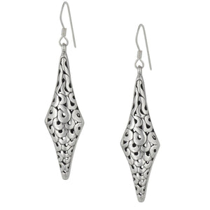 Load image into Gallery viewer, Sterling Silver Filigree Swirl Hollow Dangle Earrings