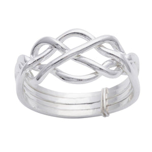 Load image into Gallery viewer, Sterling Silver Celtic Knot 4 Band Puzzle Ring