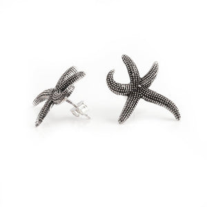 Sterling Silver Starfish Earrings Studs - 81stgeneration