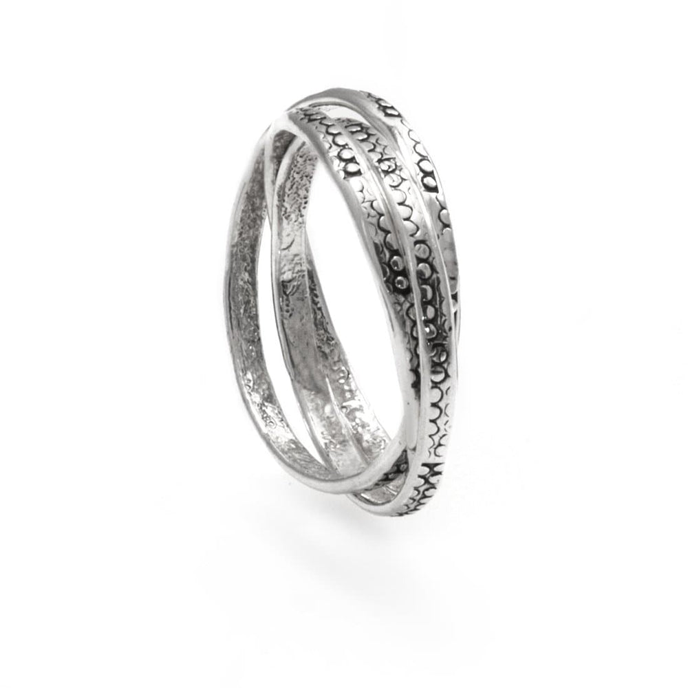 Load image into Gallery viewer, Sterling Silver Russian Wedding Interlocking Ring
