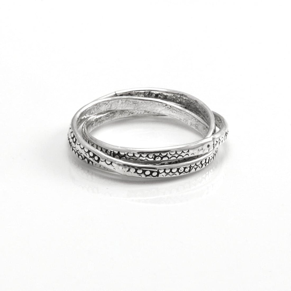 Sterling Silver Russian Wedding Interlocking Ring - 81stgeneration
