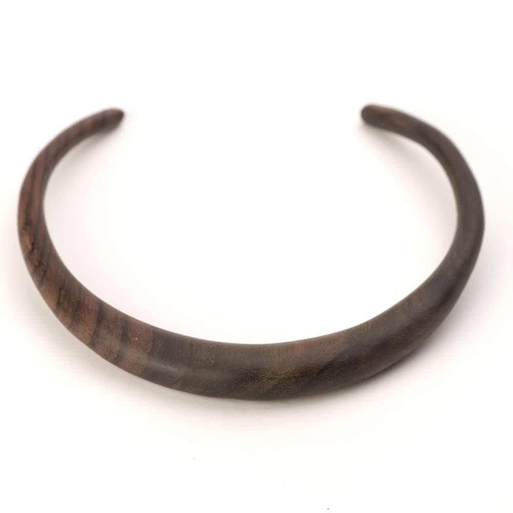 Wood Handmade Brown Choker Torque Necklace