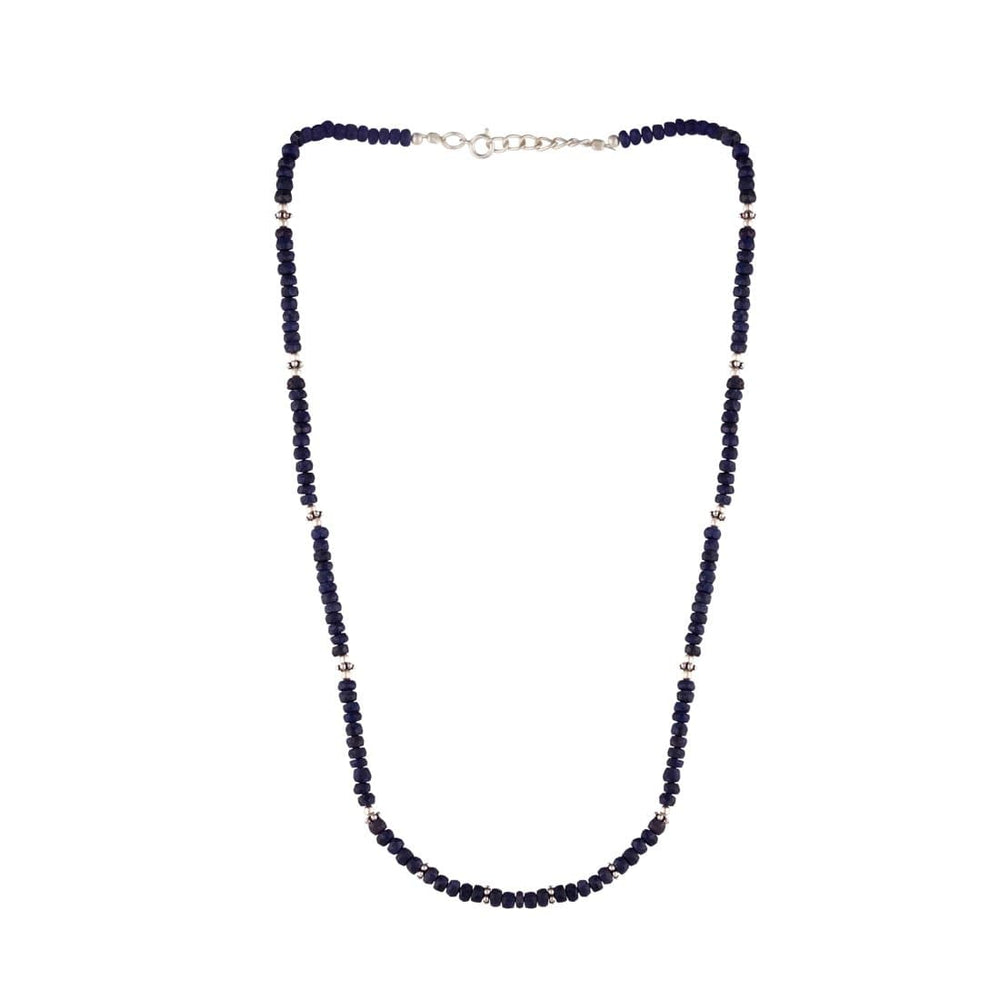 Sterling Silver Sapphire Gemstone Necklace