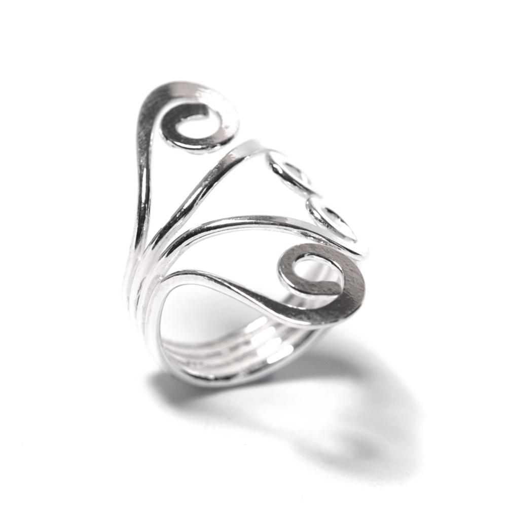 Sterling Silver Spiral Midi Finger Adjustable Toe Ring - 81stgeneration