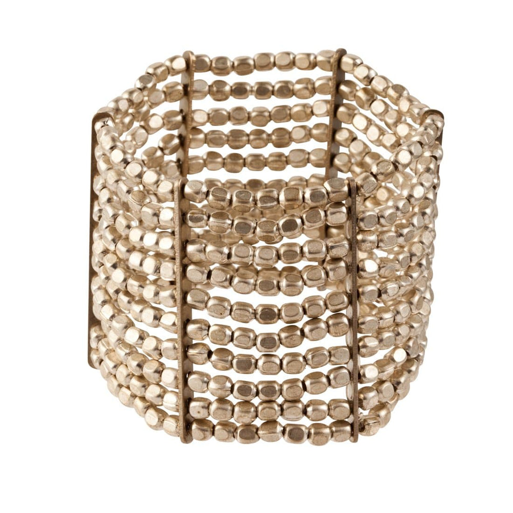 Load image into Gallery viewer, Silver Brass Small Bead Stretch Adjustable 10 Line Bracelet - 81stgeneration
