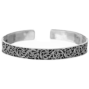 Load image into Gallery viewer, Sterling Silver Filigree Adjustable Bangle