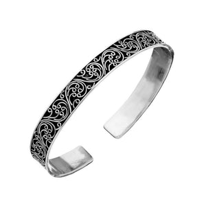 Sterling Silver Filigree Adjustable Bangle