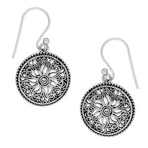 Sterling Silver Intricate Filigree Ethnic Style Dangle Earrings