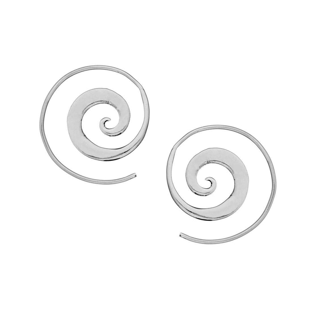 Load image into Gallery viewer, Sterling Silver Spiral Threader Earrings
