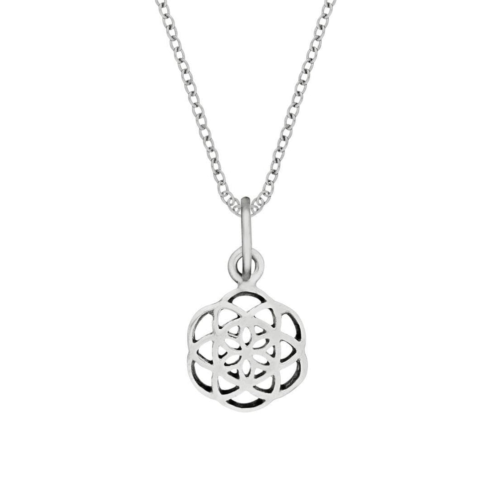 Sterling Silver Small Sacred Seed of Life Necklace