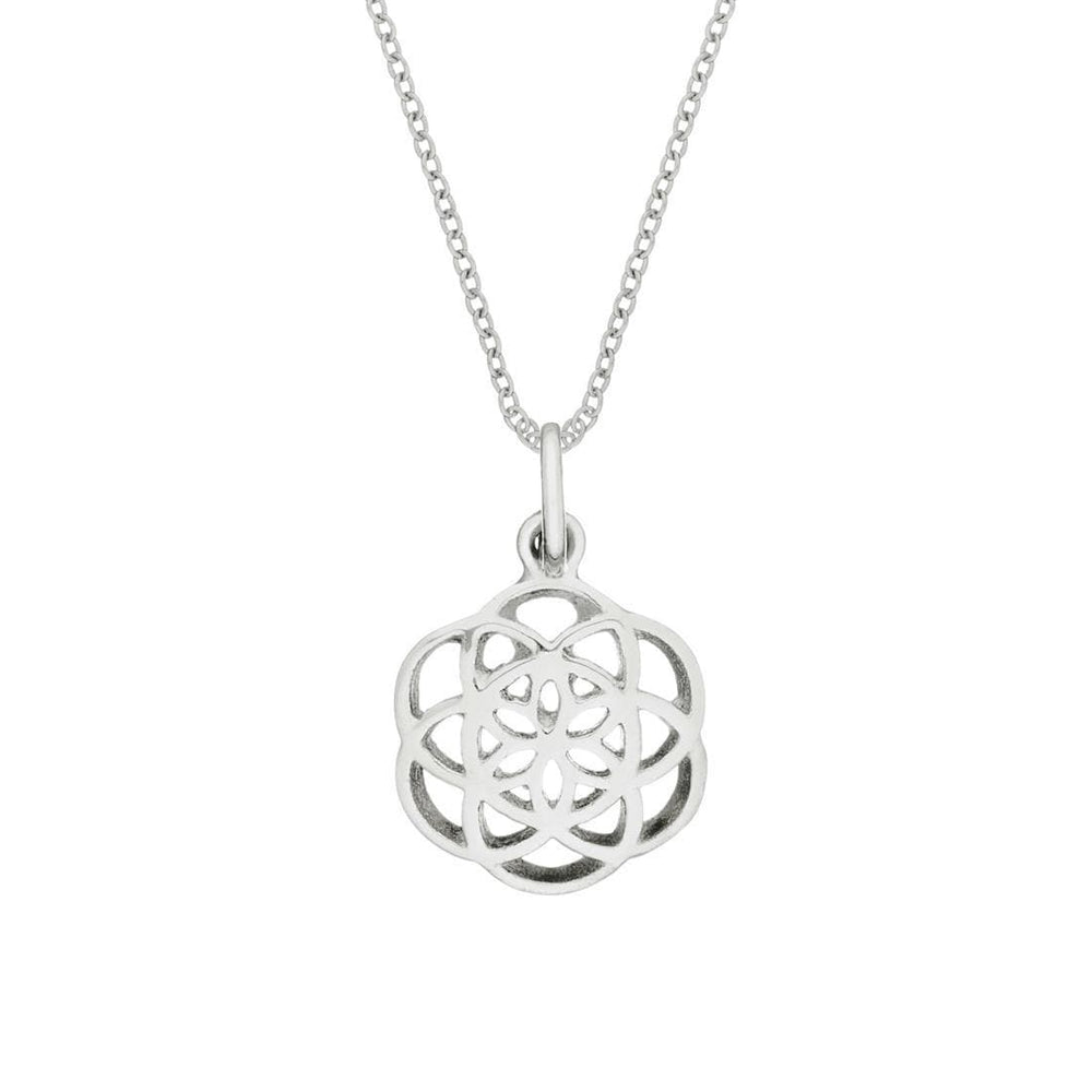 Sterling Silver Large Sacred Seed of Life Necklace