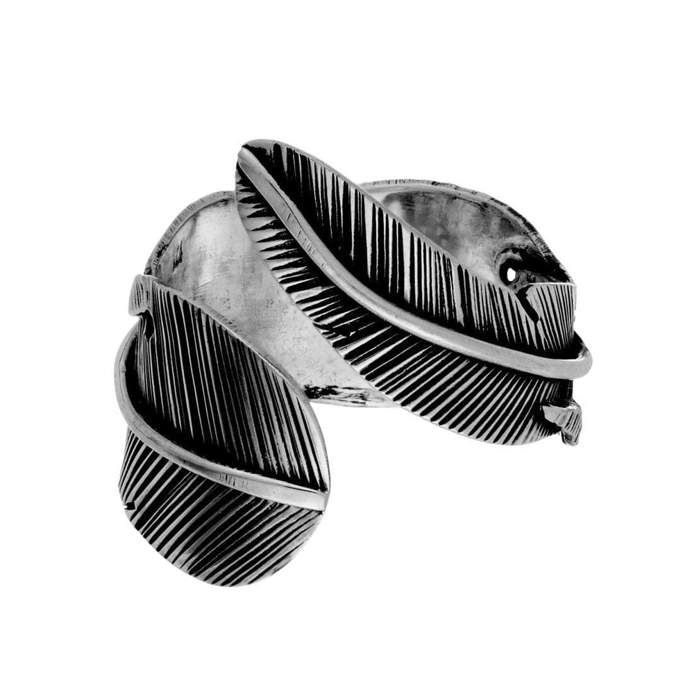 Load image into Gallery viewer, Sterling Silver Leaf Wraparound Adjustable Ring