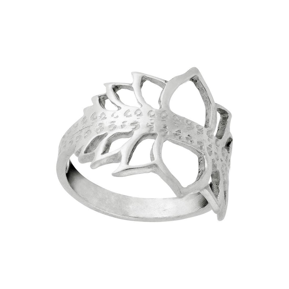 Sterling Silver Lotus Petal Ring