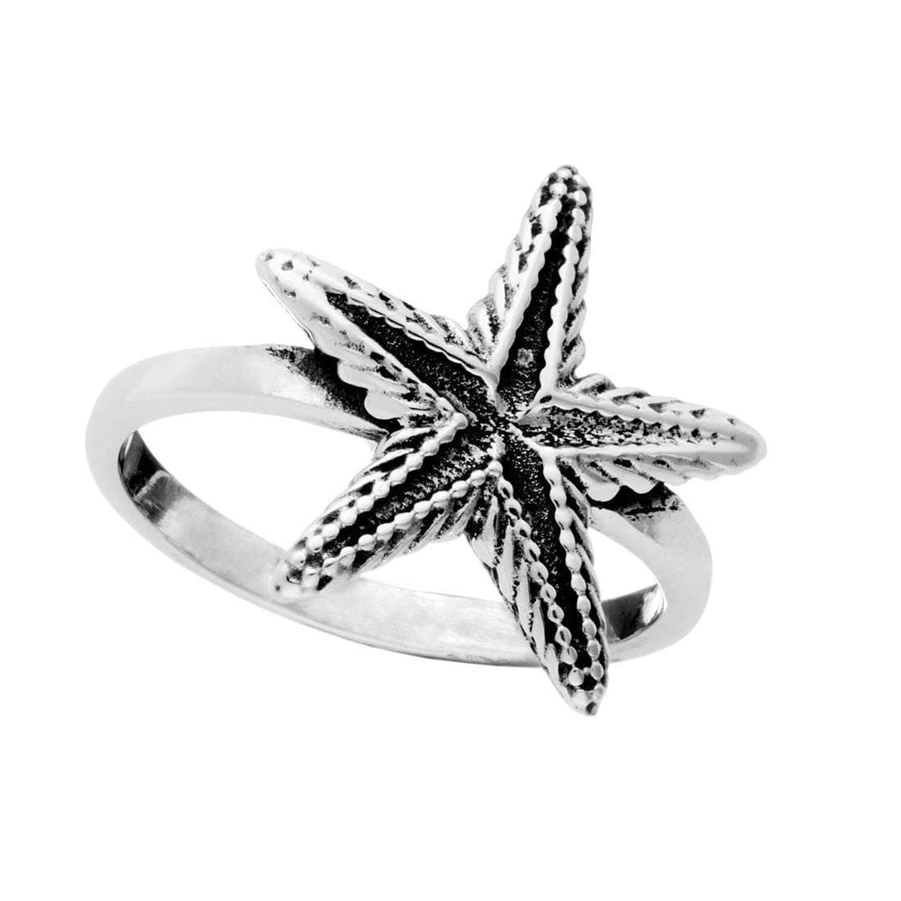 Sterling Silver Textured Starfish Ring