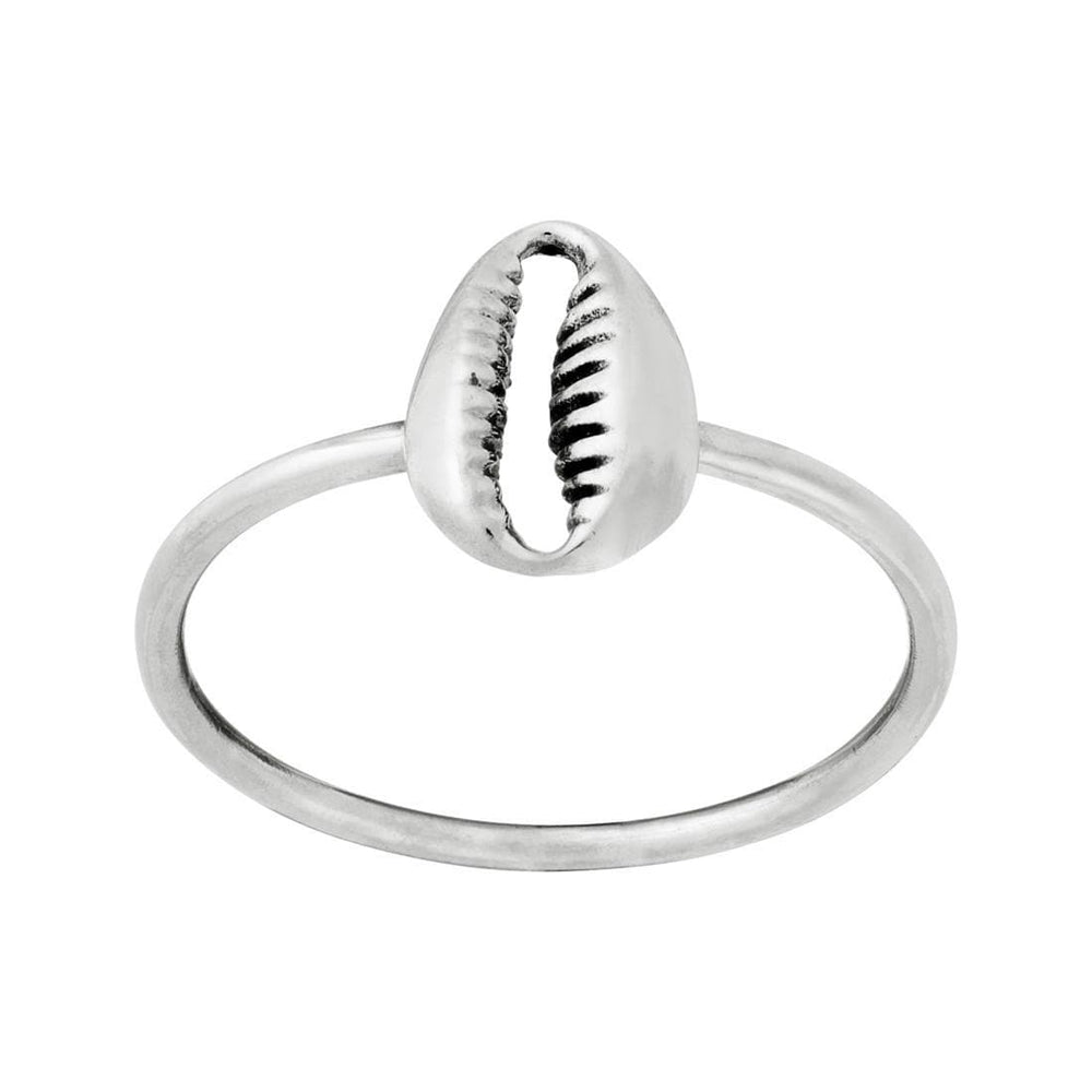 Sterling Silver Cowrie Shell Design Ring