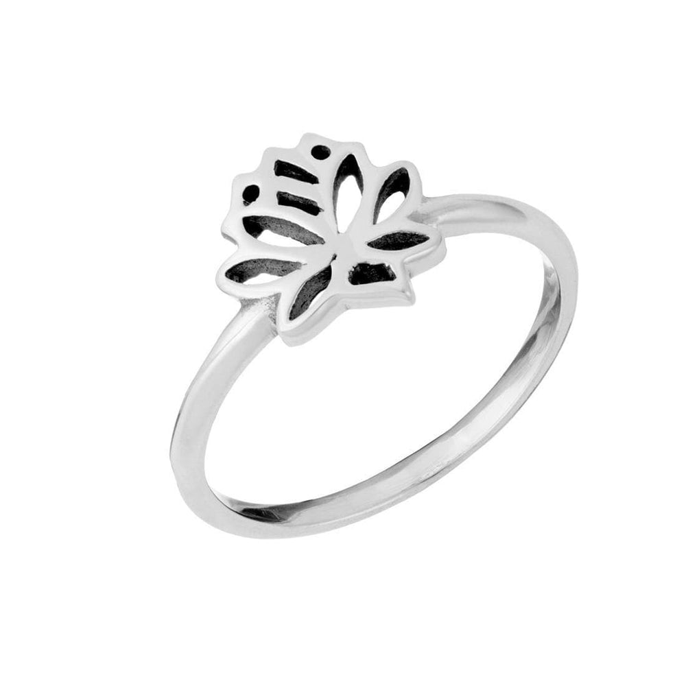 Load image into Gallery viewer, Sterling Silver Small Lotus Flower Ring