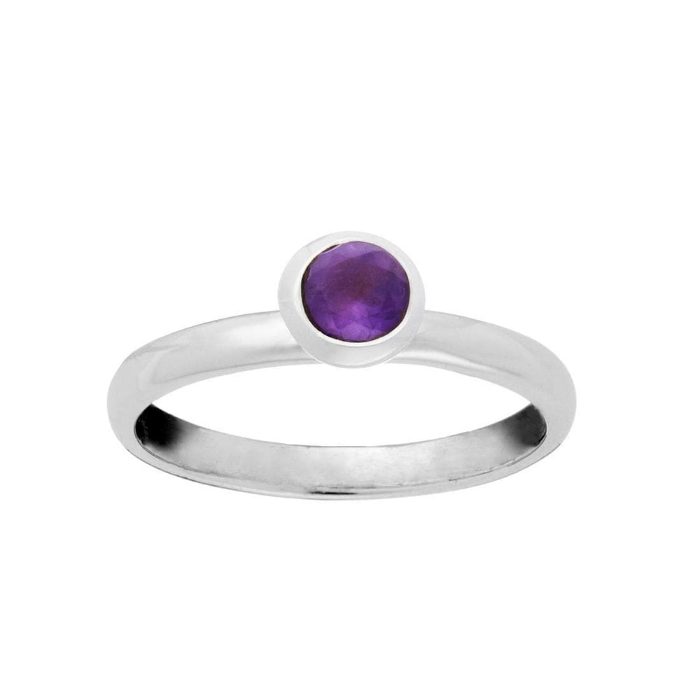 Load image into Gallery viewer, Sterling Silver Amethyst Gemstone Ring