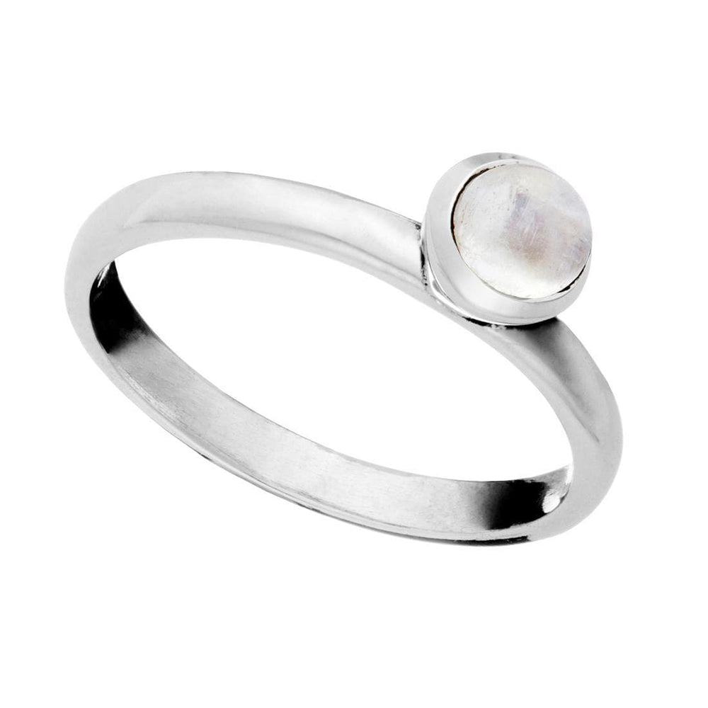 Load image into Gallery viewer, Sterling Silver Moonstone Gemstone Ring