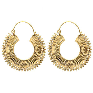 Gold Brass Indian Creole Tribal Earrings