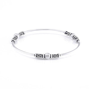 Sterling Silver Balinese Scrollwork Bangle - 81stgeneration