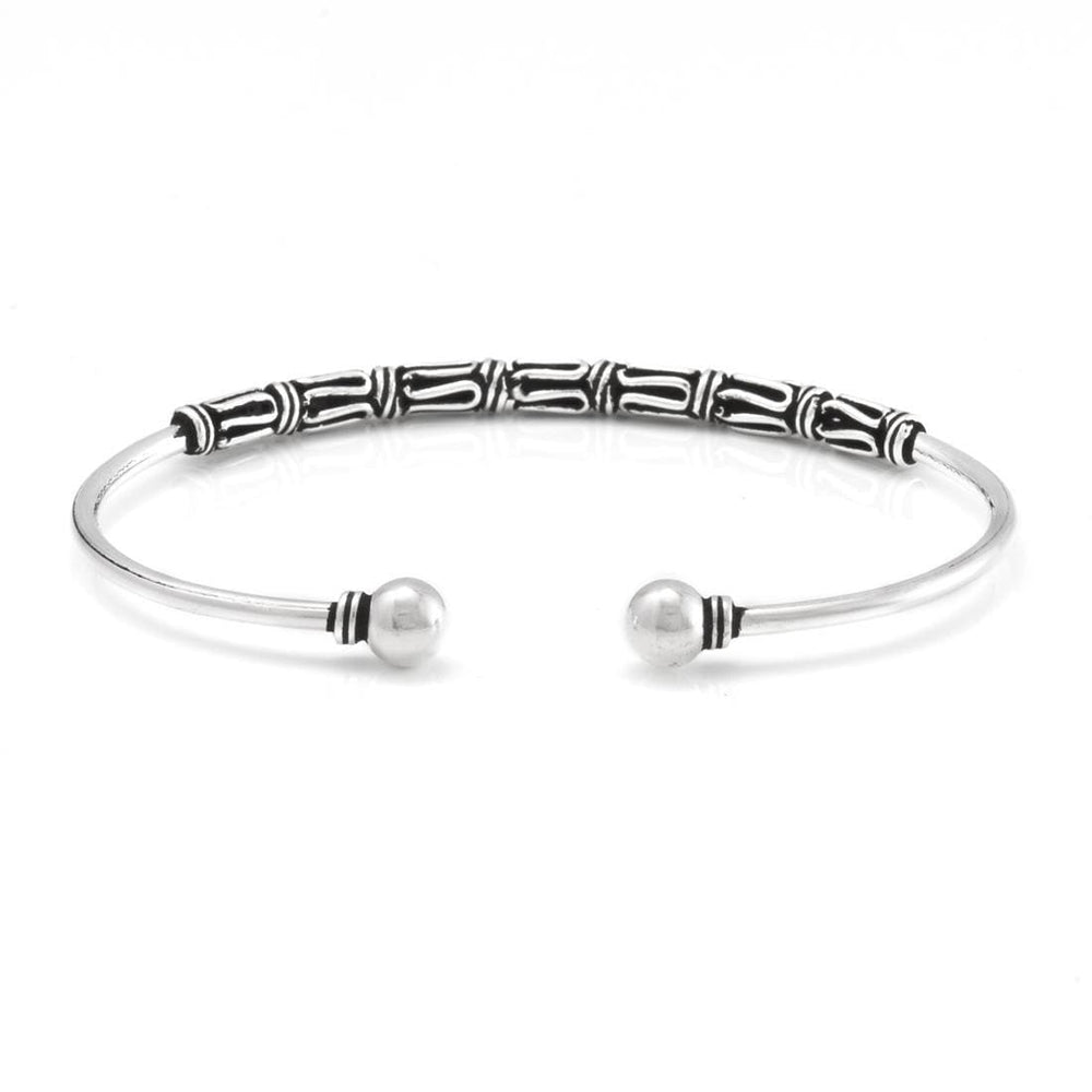 Sterling Silver Torque Scrollwork Bangle - 81stgeneration