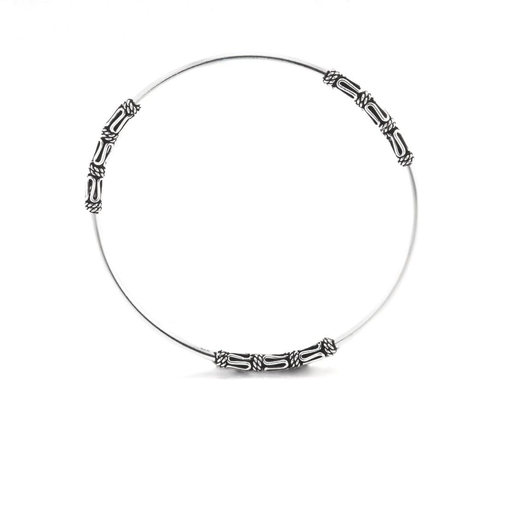 Sterling Silver Intricate Balinese Bangle - 81stgeneration