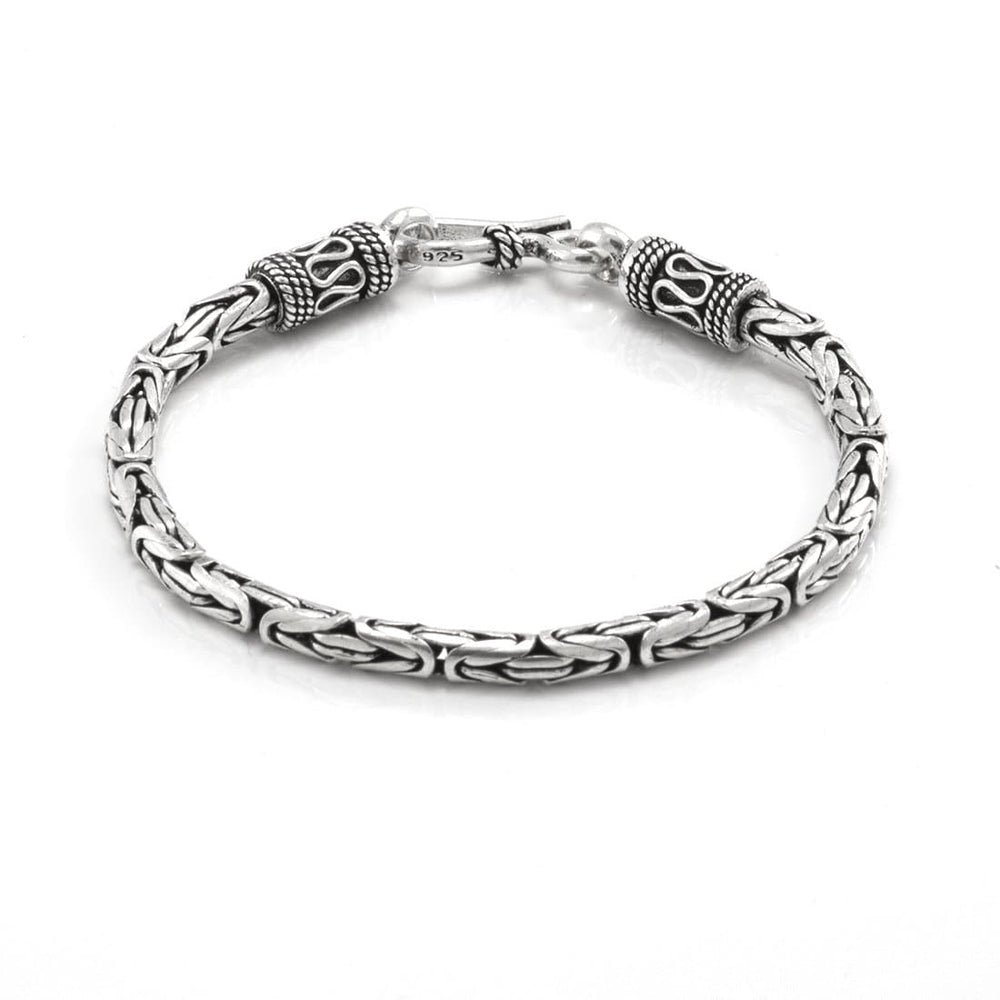 Load image into Gallery viewer, Sterling Silver Byzantine Chain Bracelet