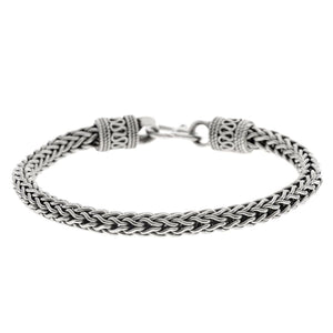 Sterling Silver Balinese Foxtail Chain Bracelet