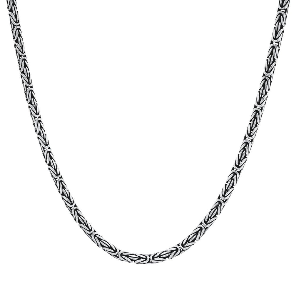 Sterling Silver Balinese Byzantine Chain Necklace