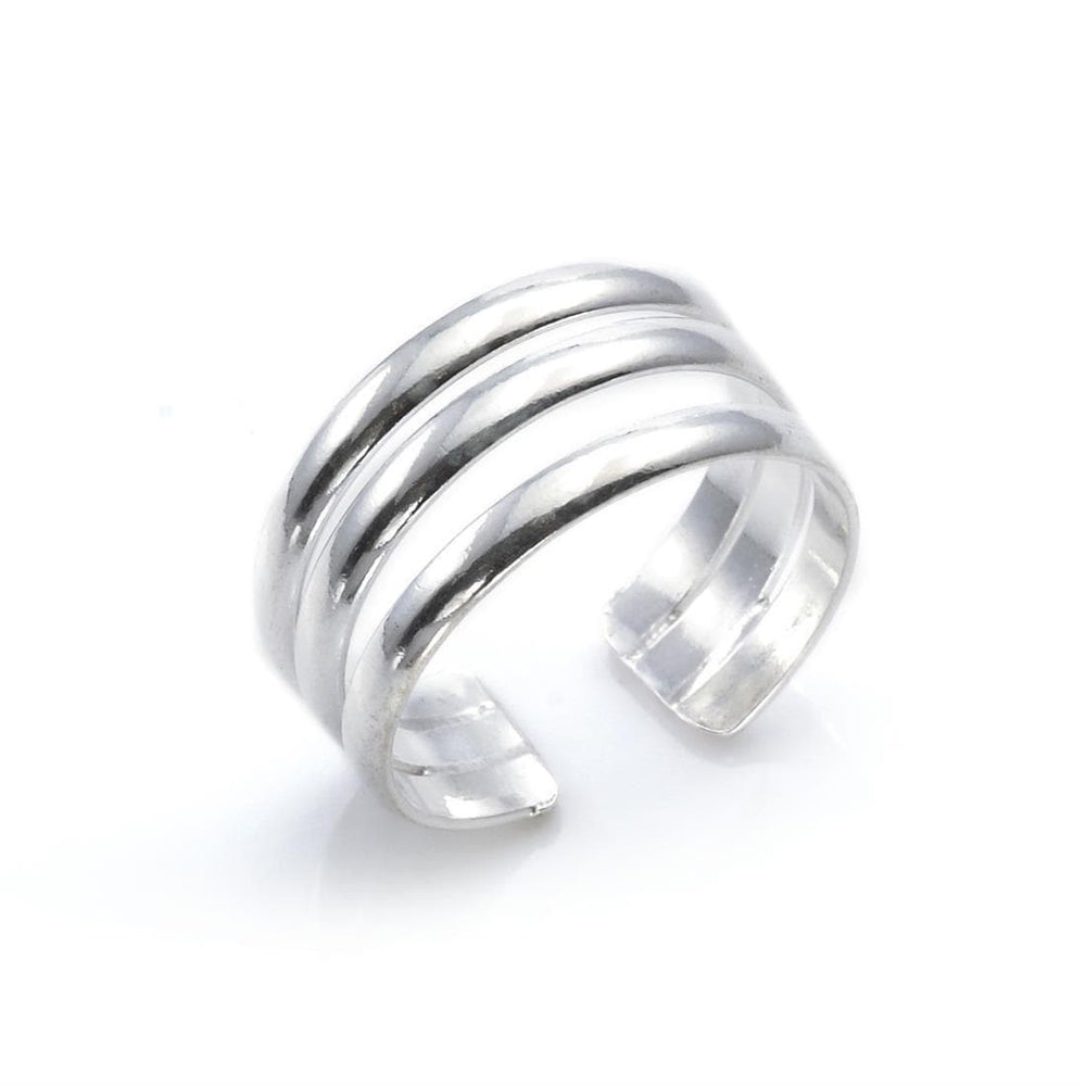 Sterling Silver Triple Band Toe Ring - 81stgeneration