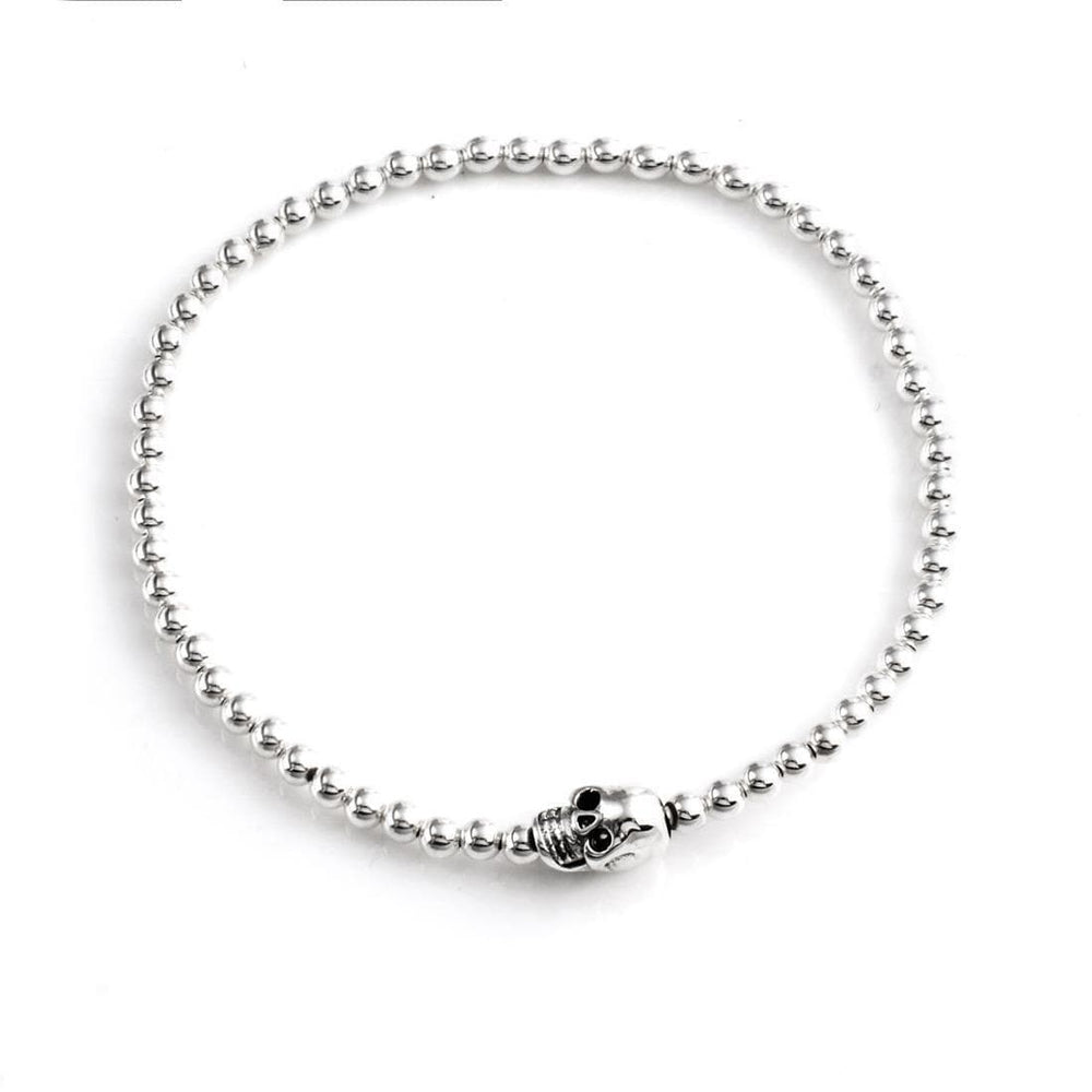 Load image into Gallery viewer, Sterling Silver Skull Charm Bracelet