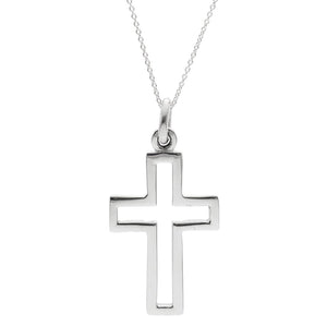 Sterling Silver Crucifix Cross Pendant Pendant Necklace