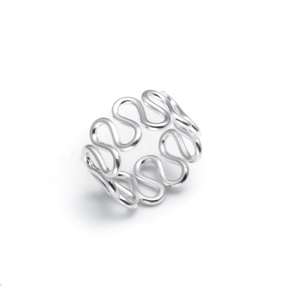 Sterling Silver Wave Swirl Toe Ring