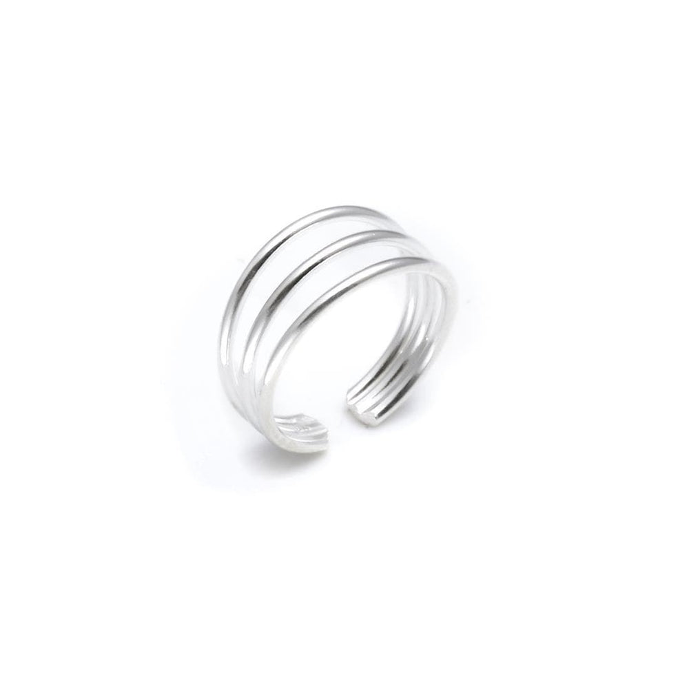 Load image into Gallery viewer, Sterling Silver Three Band Toe Ring
