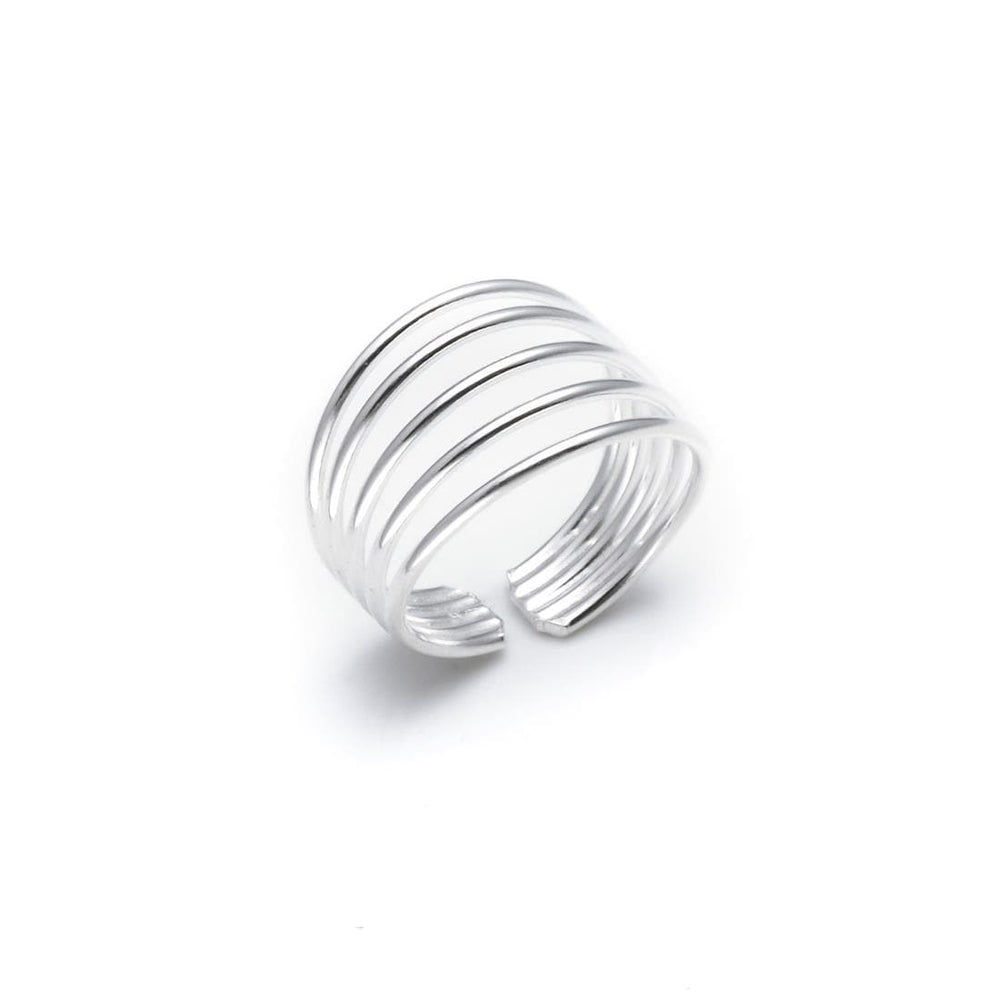 Sterling Silver Five Band Toe Ring - 81stgeneration