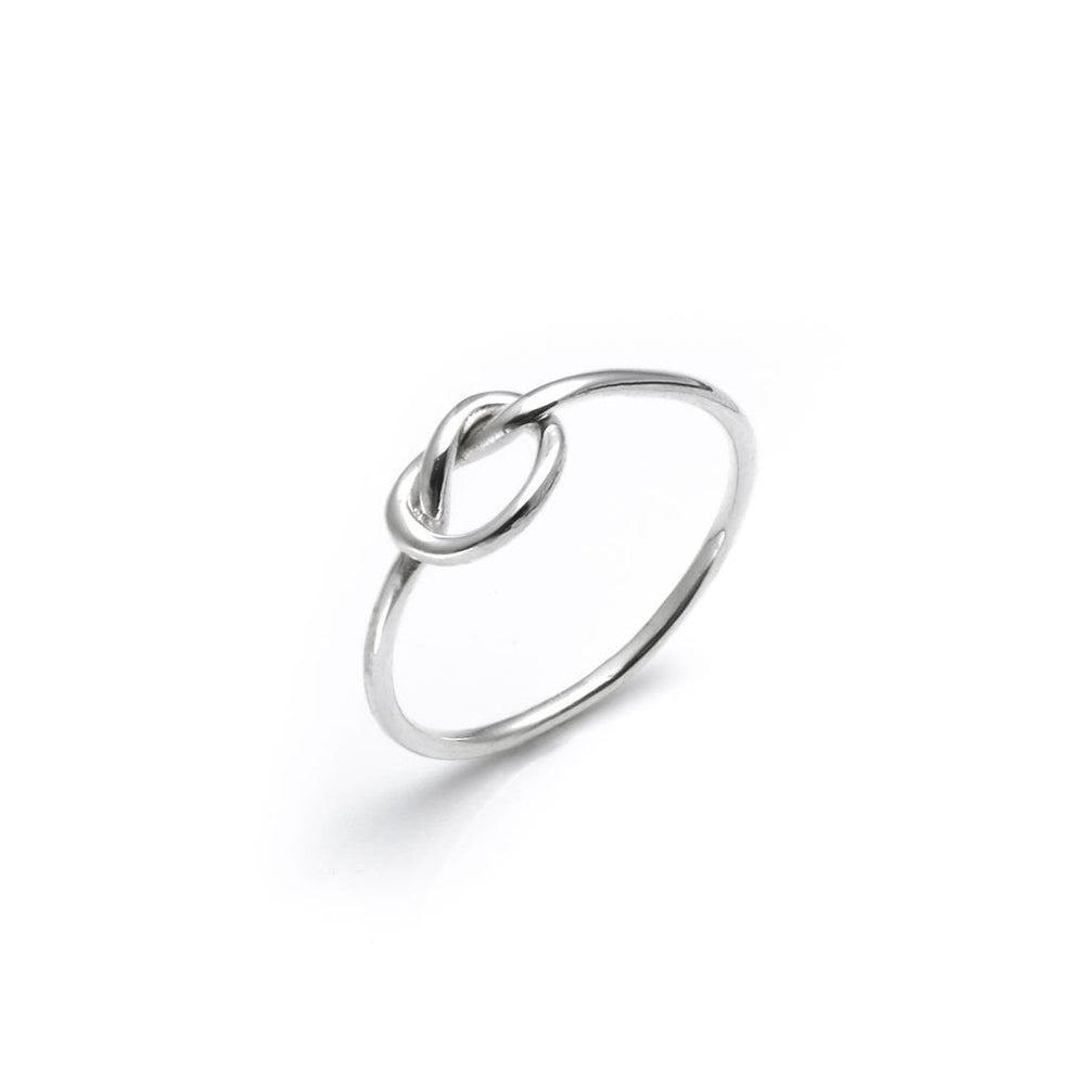 Sterling Silver Make A Wish Love Knot Thin Ring