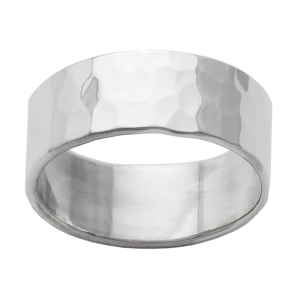 Sterling Silver Hammered Finish Band Ring