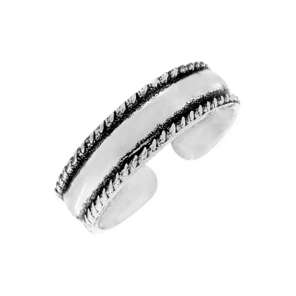 Sterling Silver Twist Rope Pinky-Midi-Toe Adjustable Ring