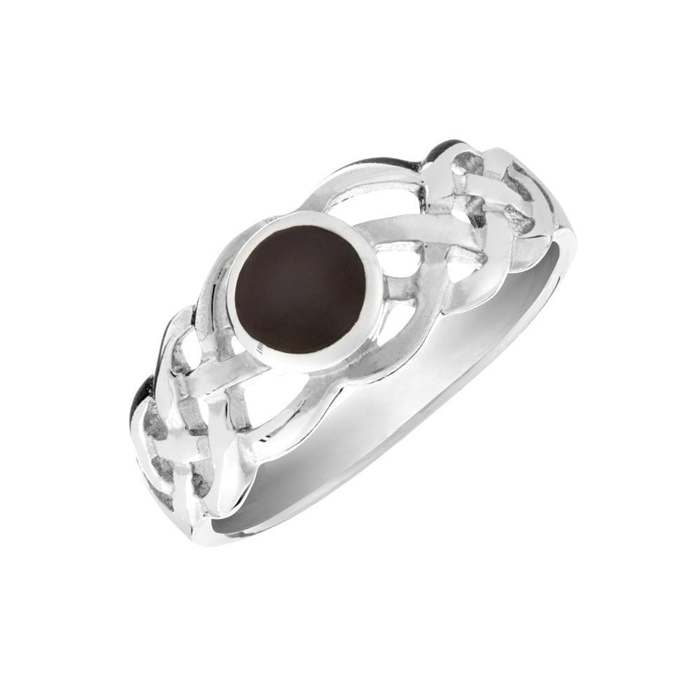 Sterling Silver Onyx Celtic Knot Ring