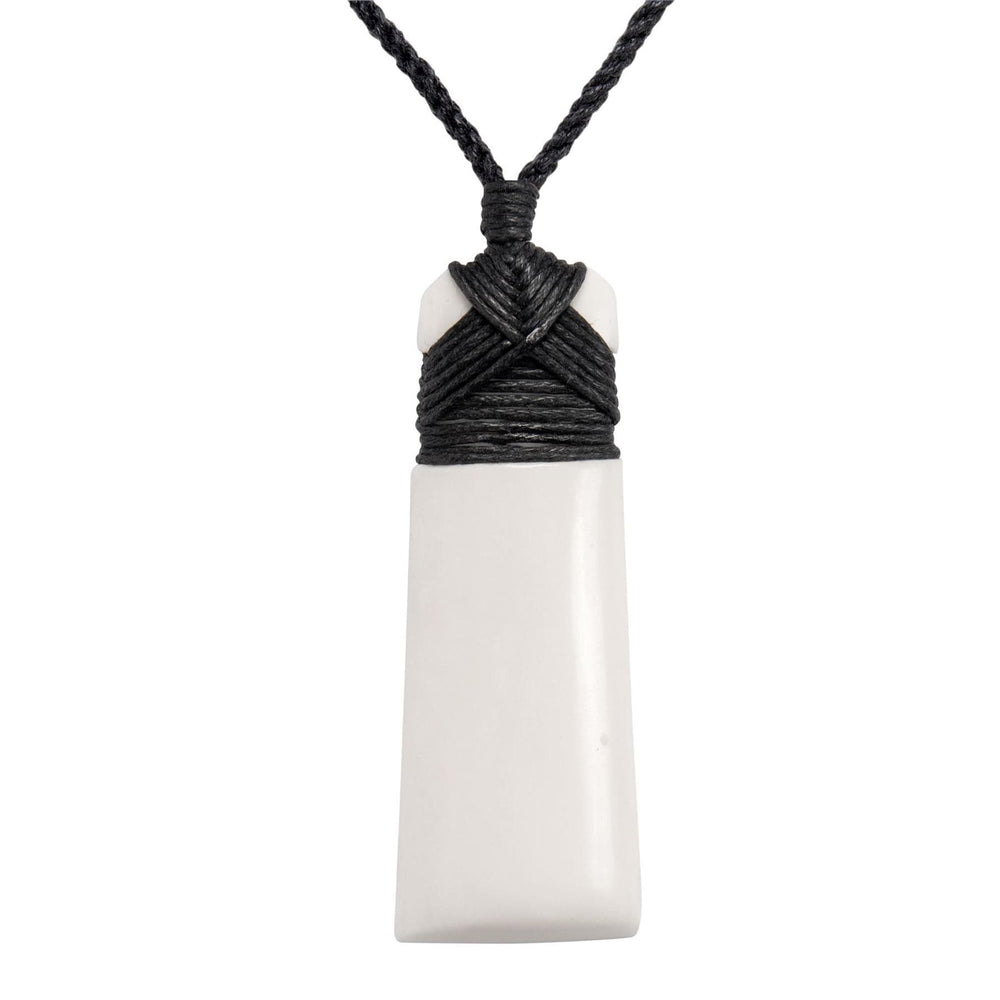 Hand Carved Bone Maori Toki Pendant Necklace