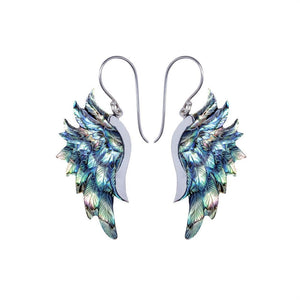 Sterling Silver Abalone Shell Eagle Wing Earrings