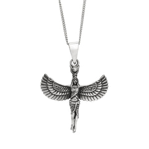 Sterling Silver Goddess Isis Pendant Necklace