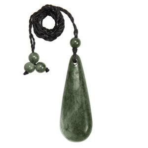 Load image into Gallery viewer, Greenstone Maori Smooth Roimata Pendant Necklace