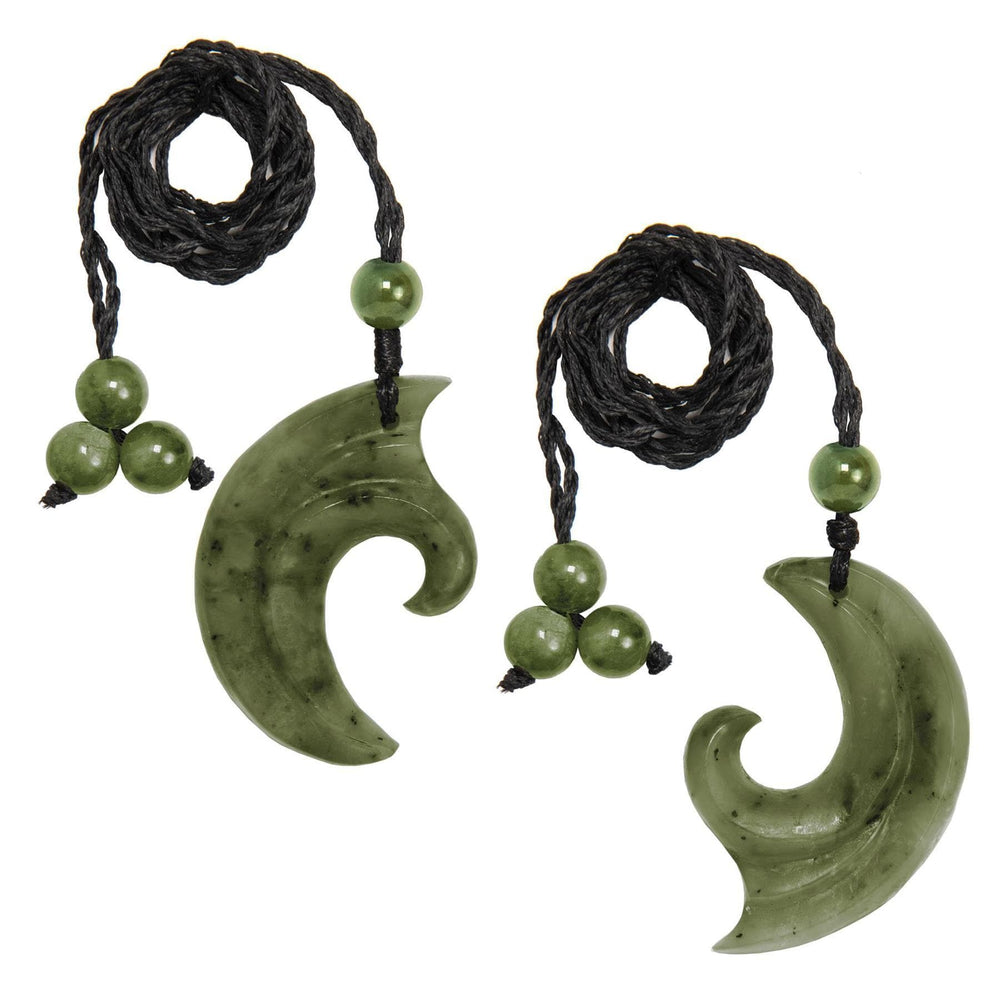 Greenstone Interconnecting Koru Pendant Necklace Set