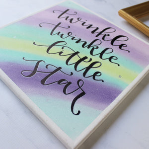 Twinkle Twinkle Little Star Canvas Sign