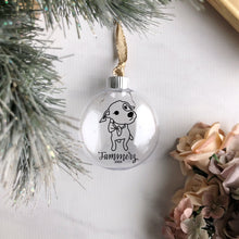 "Load image into Gallery viewer, 3.5"" Plastic Clear Christmas Disc Ornament"