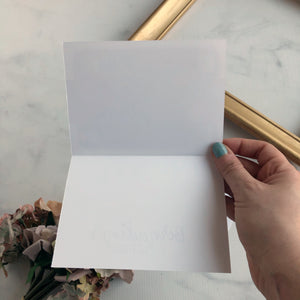 Thank You Card - Gold Anchor