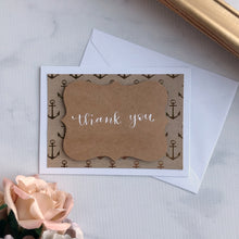 Load image into Gallery viewer, Thank You Card - Gold Anchor