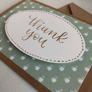 Thank You Card - White Coffee Mugs
